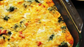 Egg Bake with Ham & Spinach
