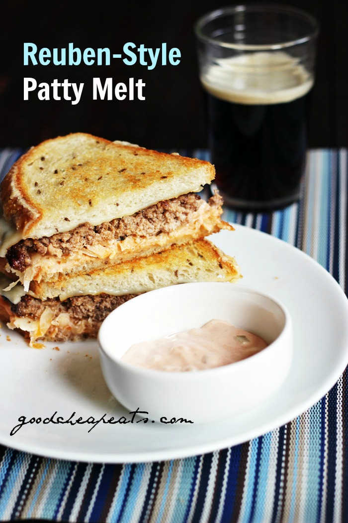 Reuben Style Patty Melt Good Cheap Eats PIN