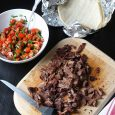 carne asada on cutting board