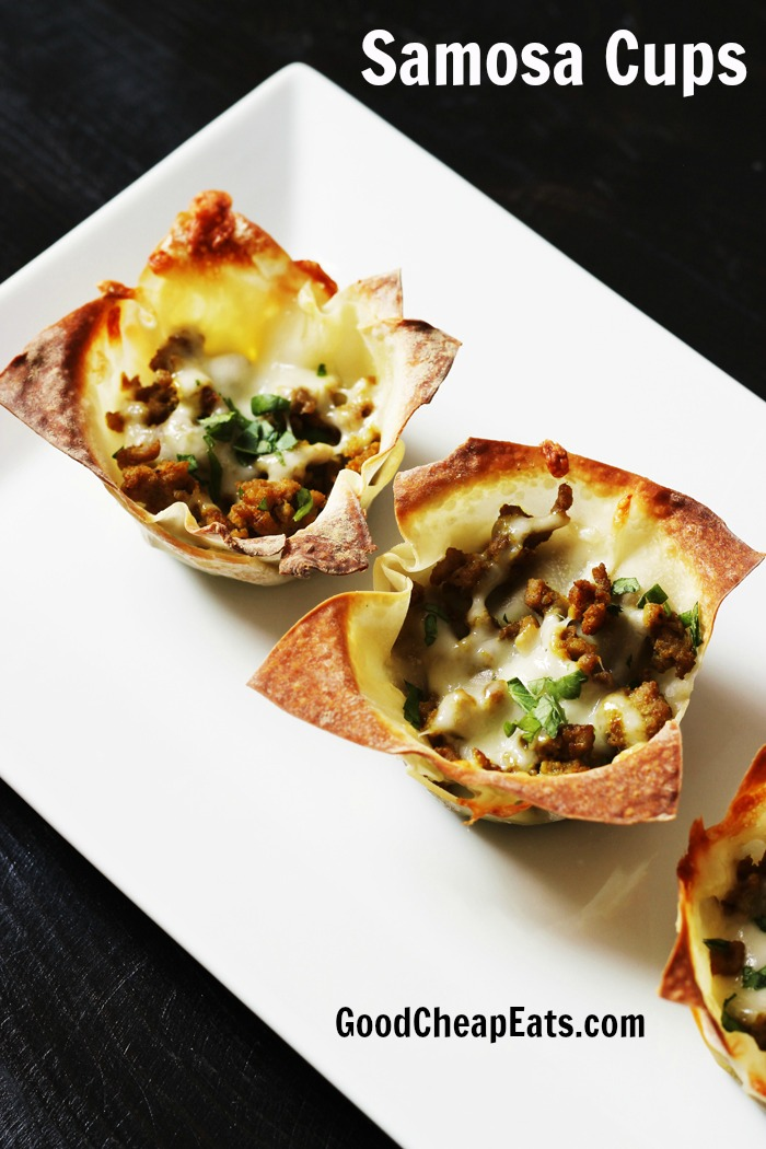 Samosa Cups Recipe | Good Cheap Eats