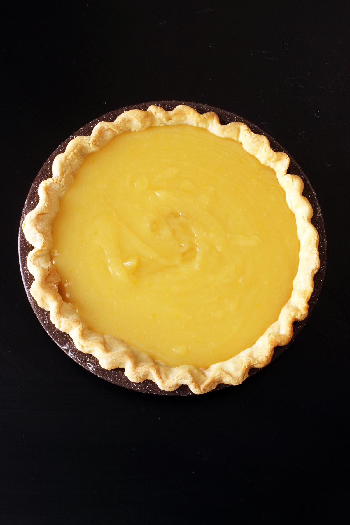 curd in pie crust