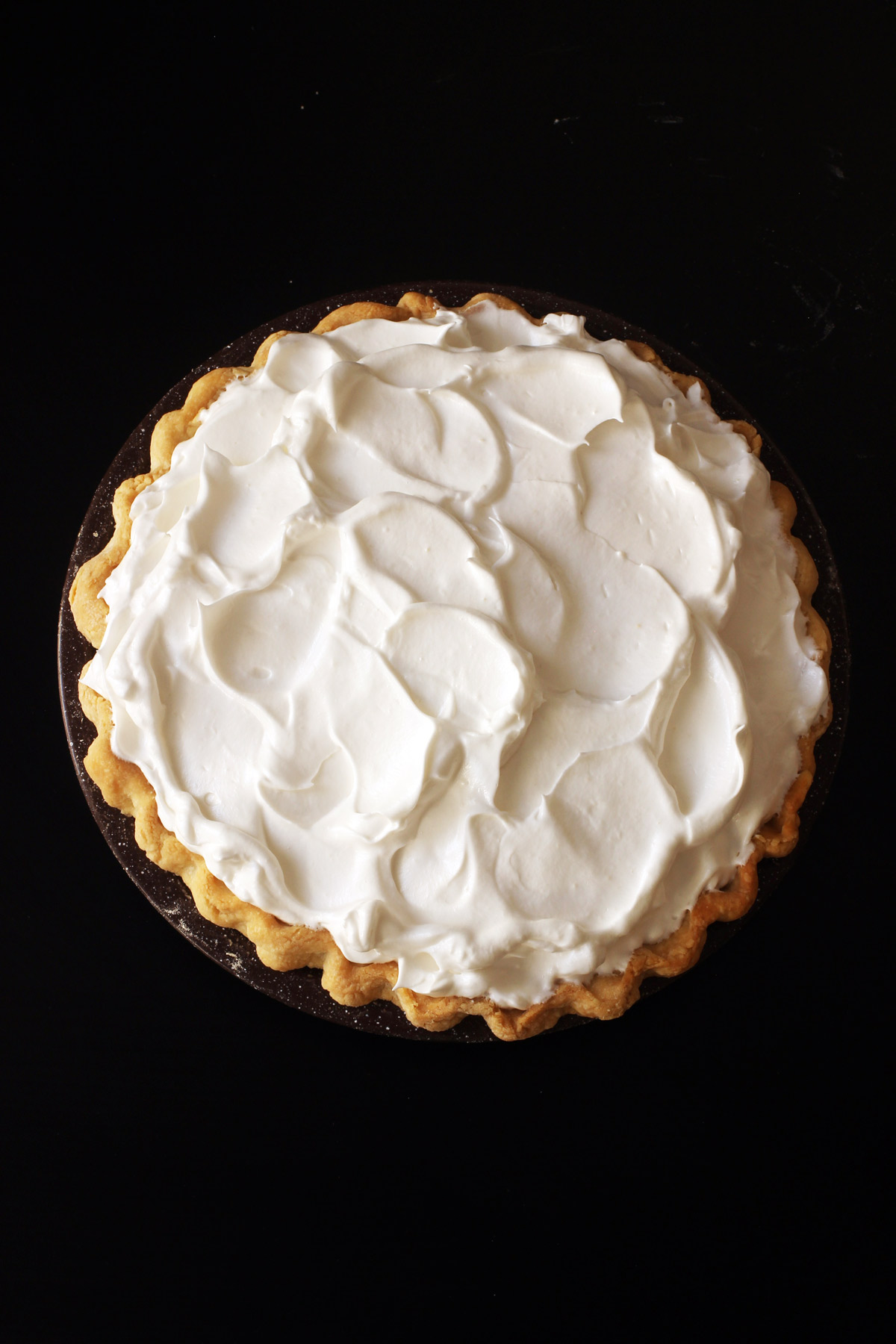 pie covered in meringue