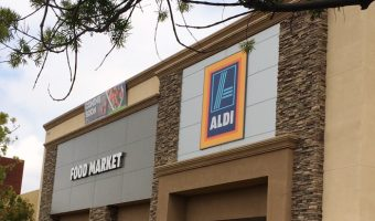 Aldi grocery store frontage