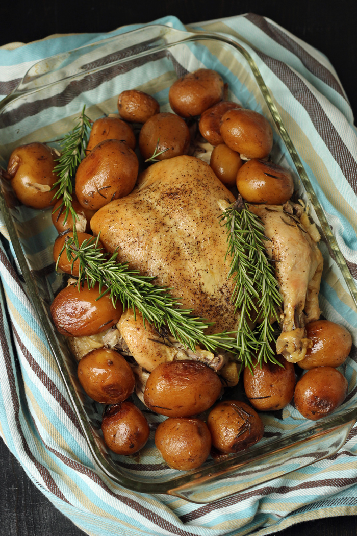 Rosemary Chicken and Potatoes in the Slow Cooker