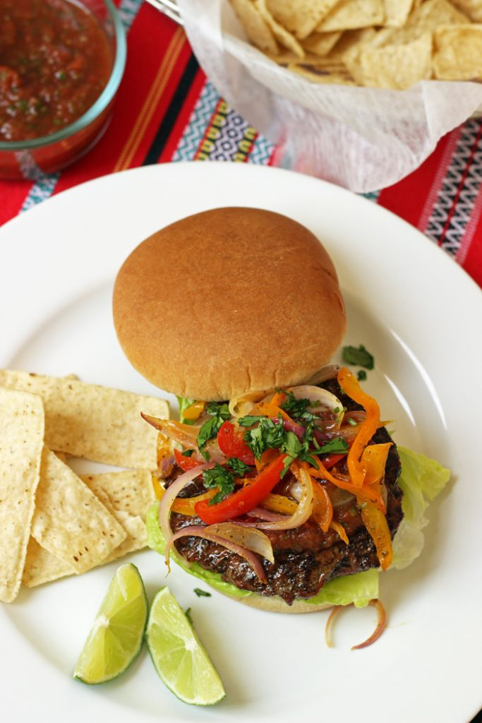 Fajita Burgers from Good Cheap Eats