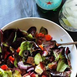 Italian Salad with Crispy Prosciutto