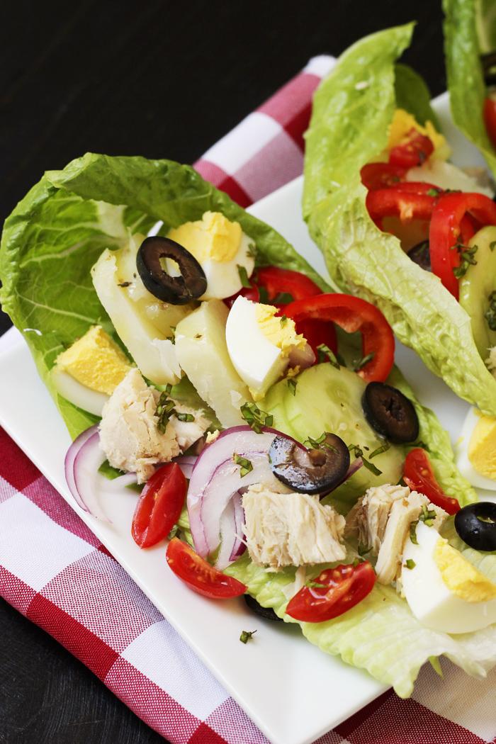 nicoise salad wraps GCE