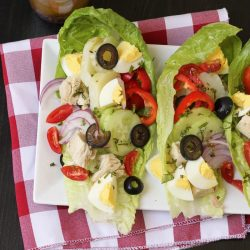nicoise salad wraps PIN