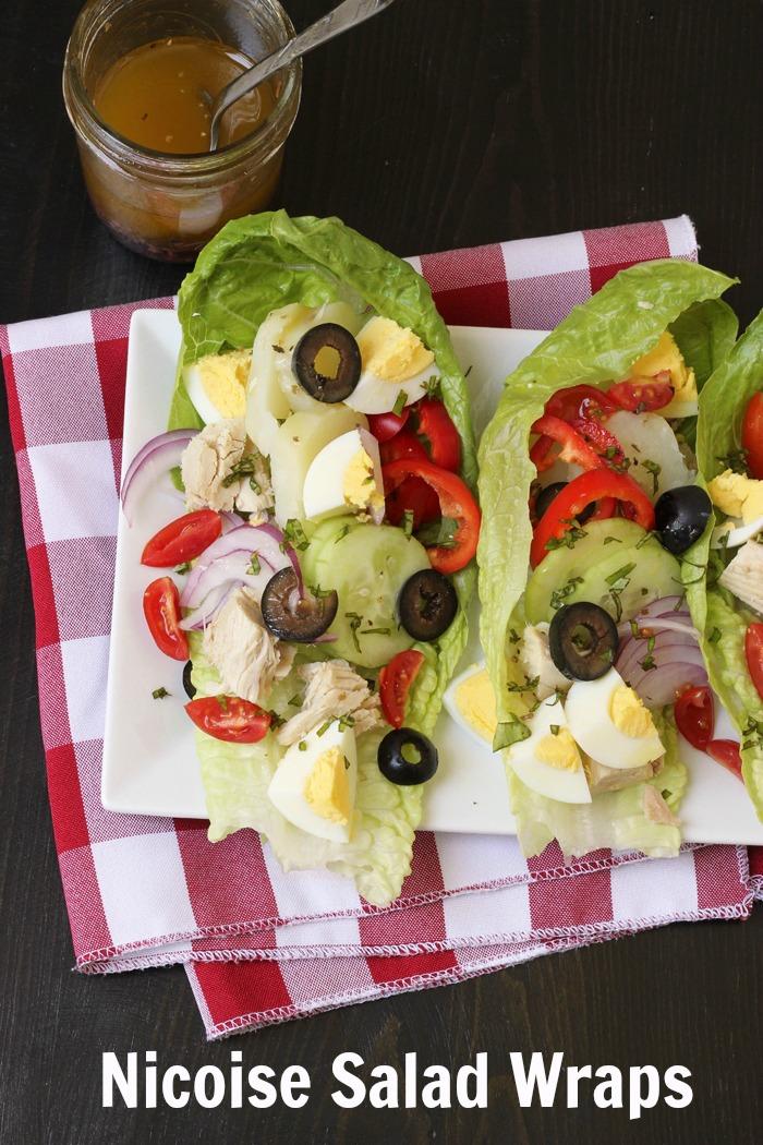 nicoise salad wraps PIN