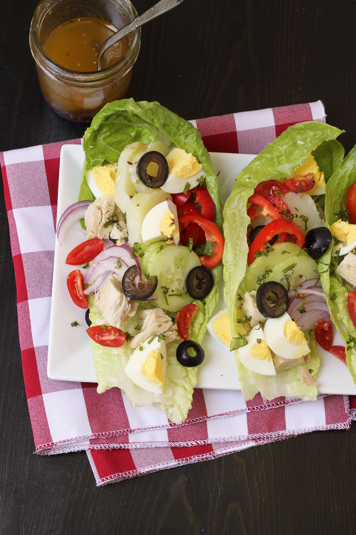 nicoise salad wraps from Good Cheap Eats