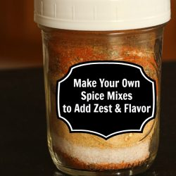 jar of spices layered