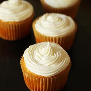 close up of lemon Cupcake