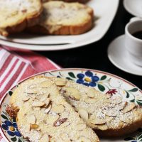 Sweet Almond Toasts (Poorman's Bostock)