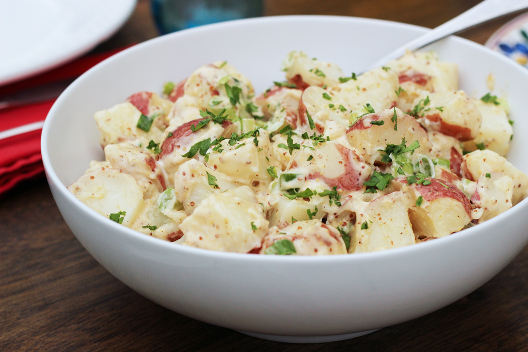 Red Potato Salad with Whole Grain Mustard