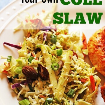A plate of cole slaw