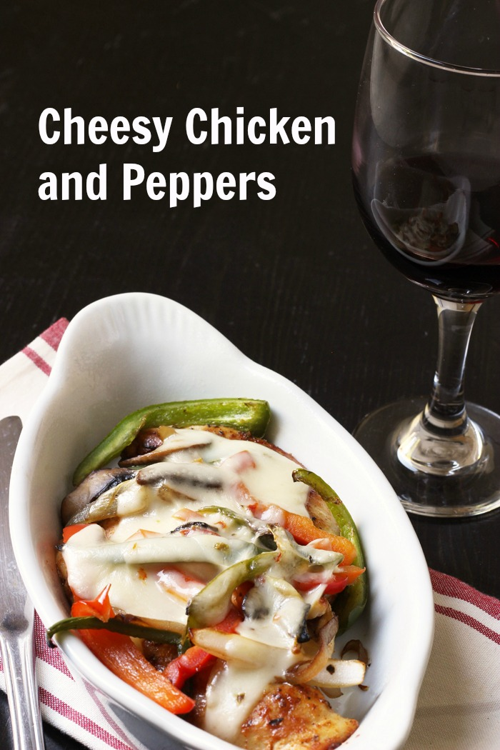Cheesy Chicken and Peppers Recipe Good Cheap Eats PIN