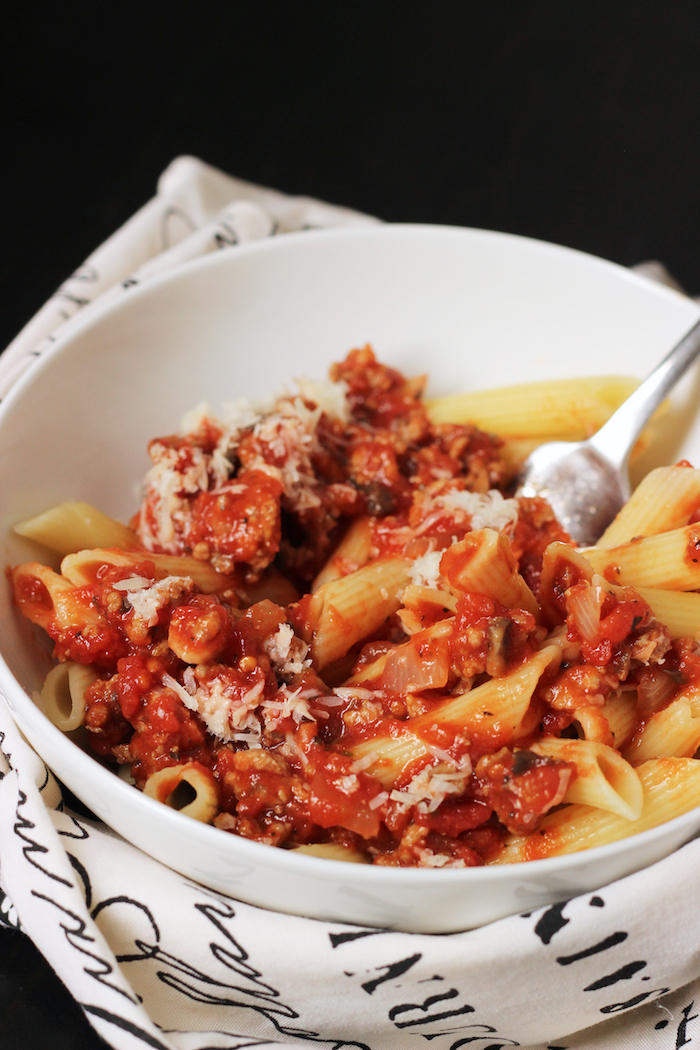Spicy Turkey and Sausage Bolognese | Good Cheap Eats