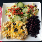 chicken enchilada bake on plate