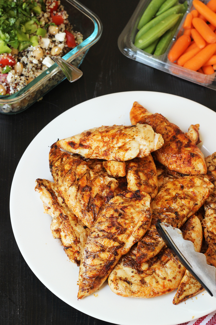 Grilled chicken with spicy chicken rub