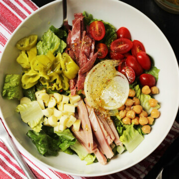 A bowl of submarine salad