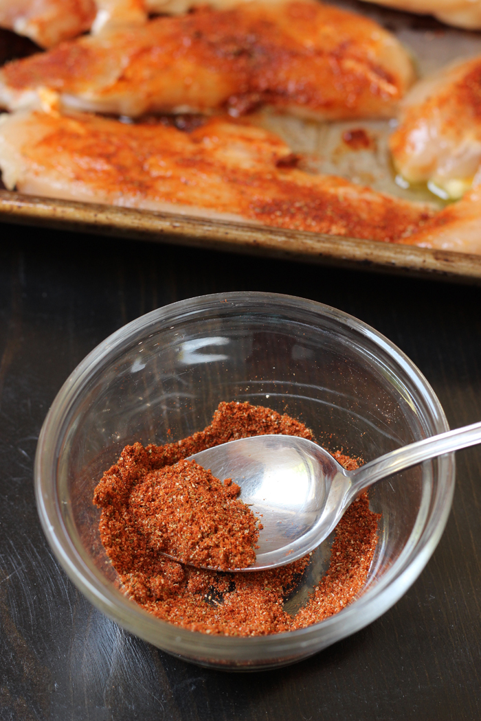 bowl of spice rub for chicken