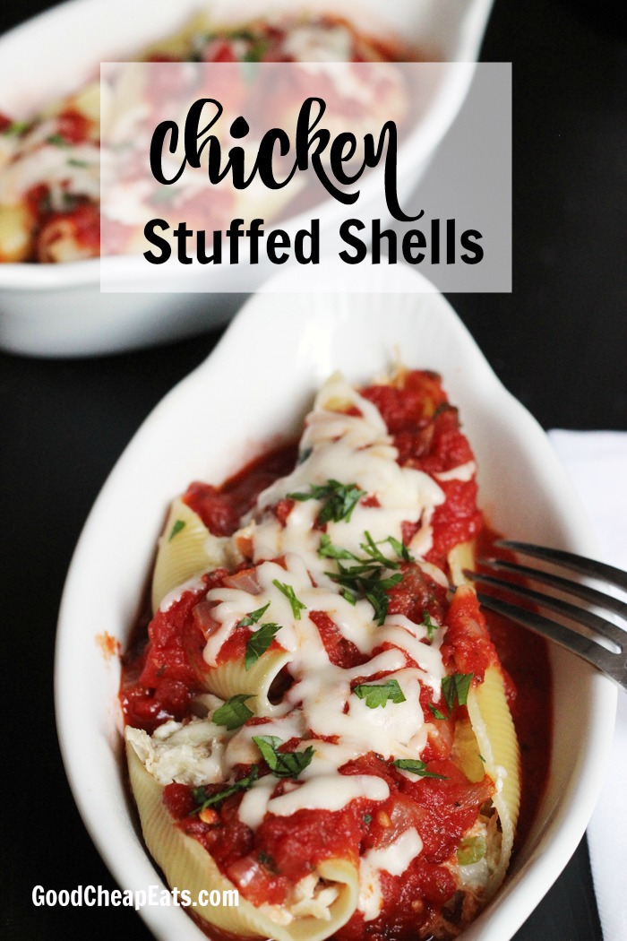 Creamy Chicken Stuffed Shells | Good Cheap Eats