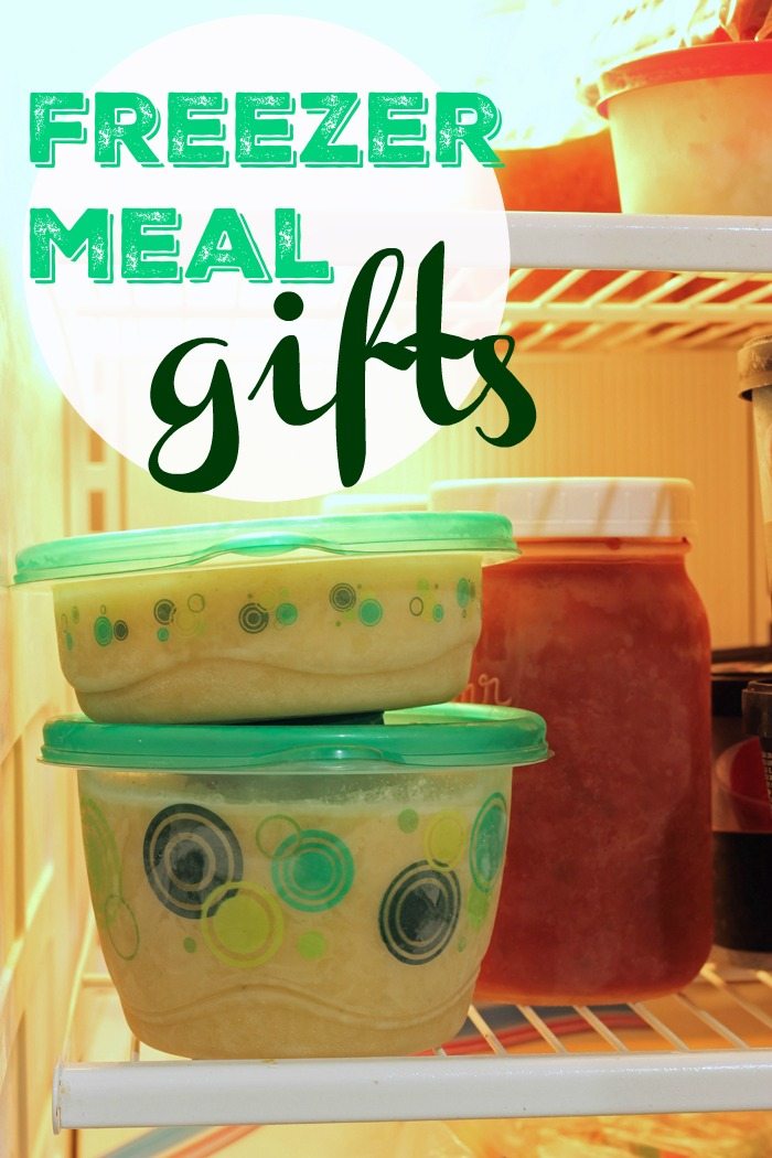 frozen meal gifts in freezer