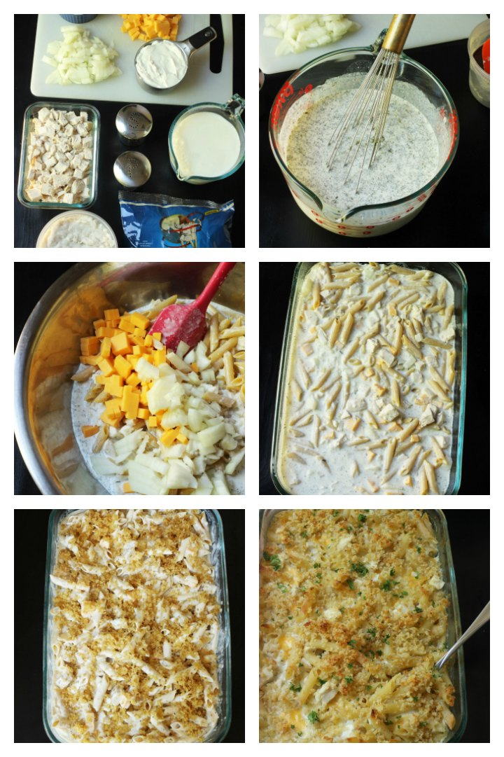 step by step photos for making the casserole