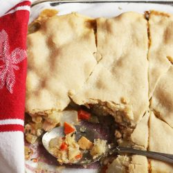 Single Crust Pot Pie with Chicken or Turkey