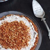a frozen toffee dream pie