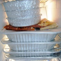 freezer meals in aluminum pans