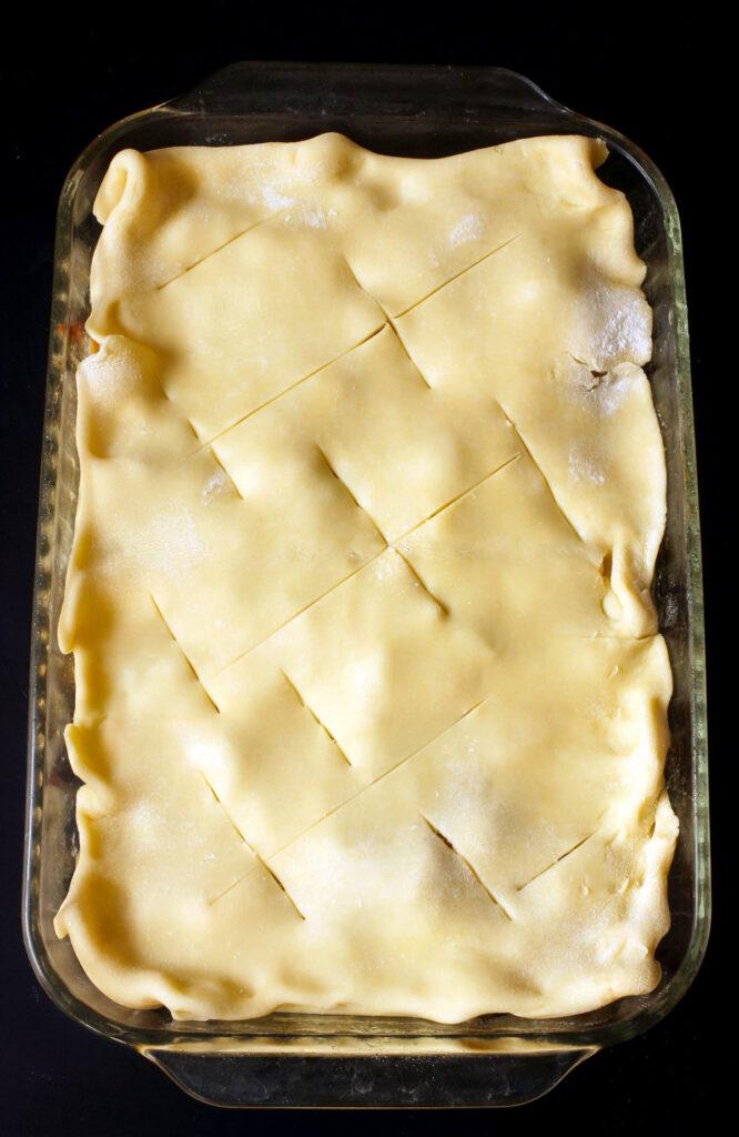 unbaked single crust pot pie