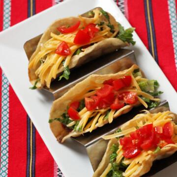 taco holder on platter