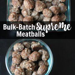 Bulk Batch Supreme Meatballs