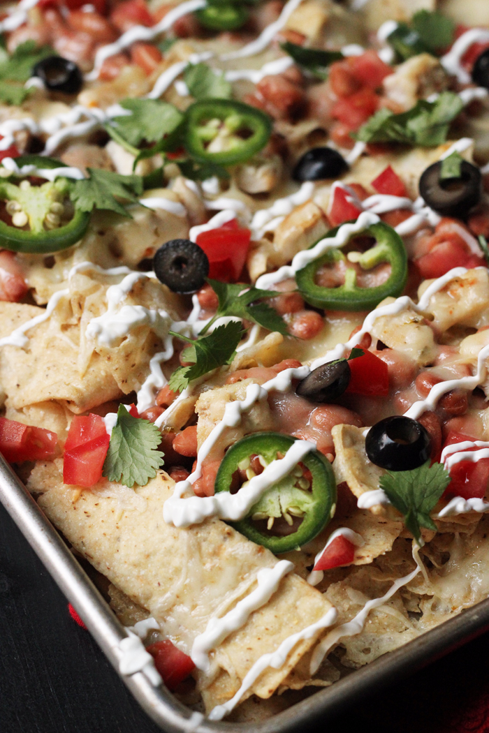 One-Pan Chicken Nachos | Good Cheap Eats