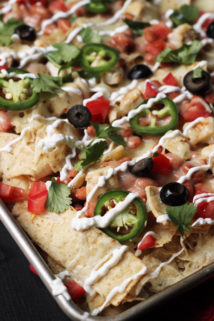 One-Pan Chicken Nachos | Good Cheap Eats