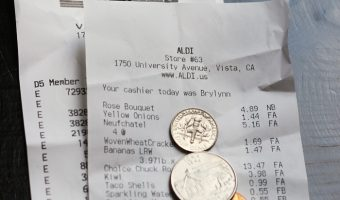 receipts with spare change