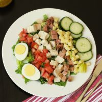 a plate of chef's salad