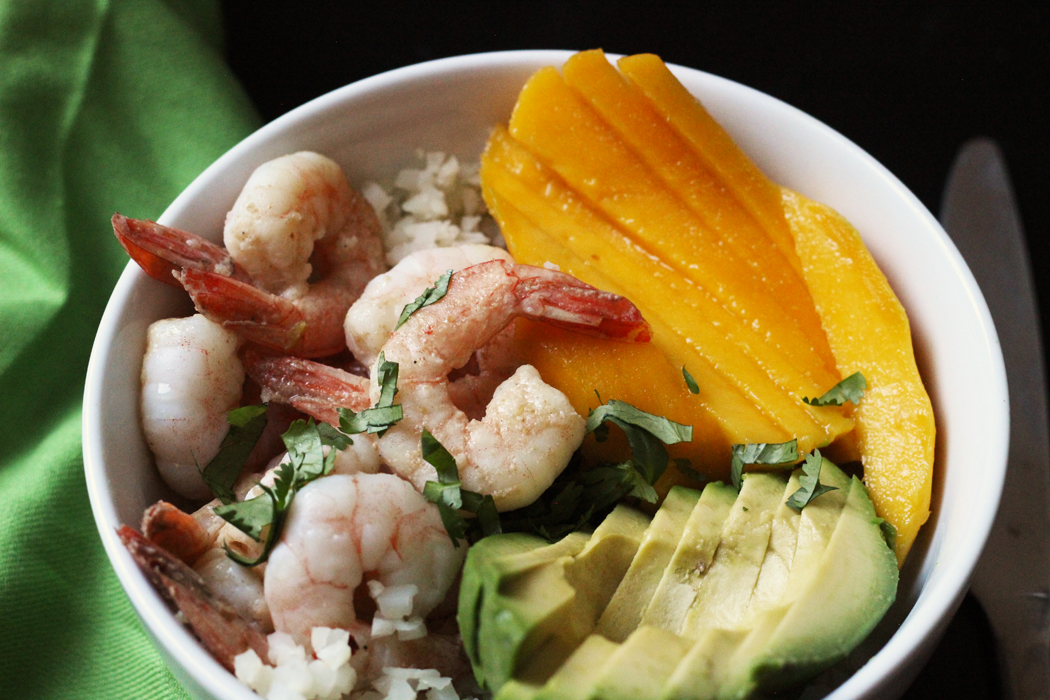 Shrimp Bowls with Mango and Avocado | Good Cheap Eats