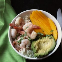 Shrimp Bowls with Mango and Avocado