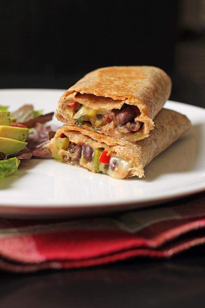 Black Bean and Bell Pepper Wraps | Good Cheap Eats