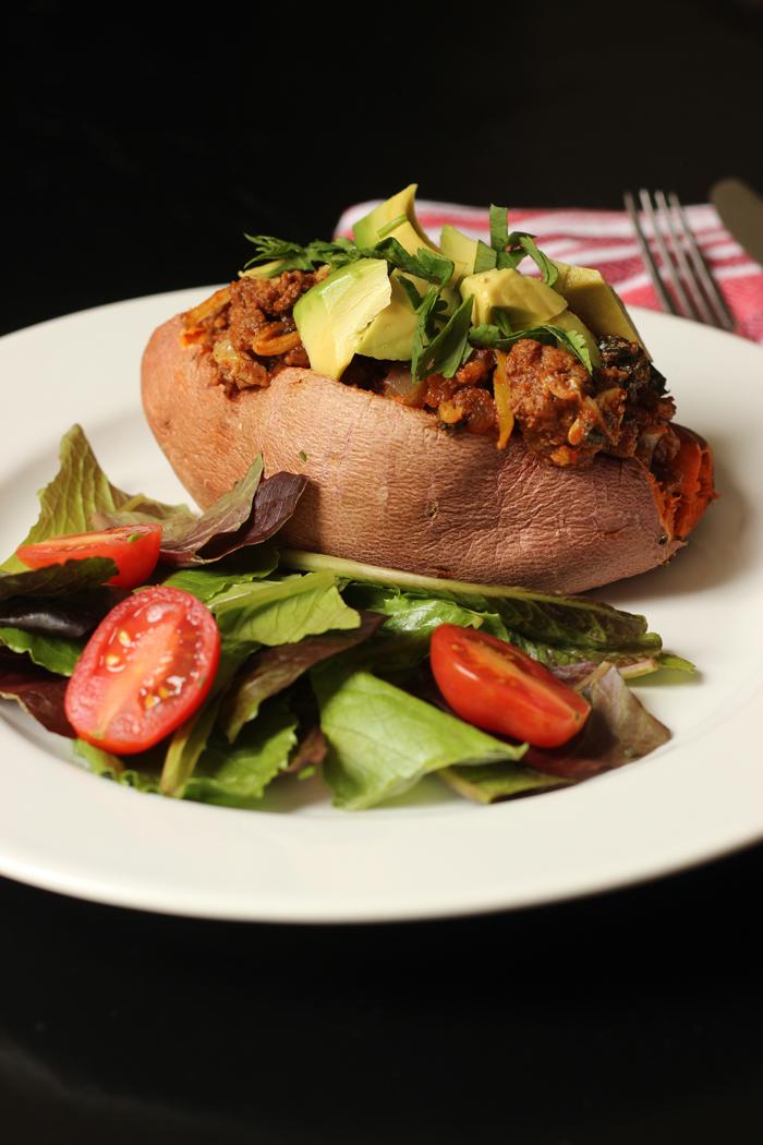 Chili Stuffed Sweet Potatoes | Good Cheap Eats