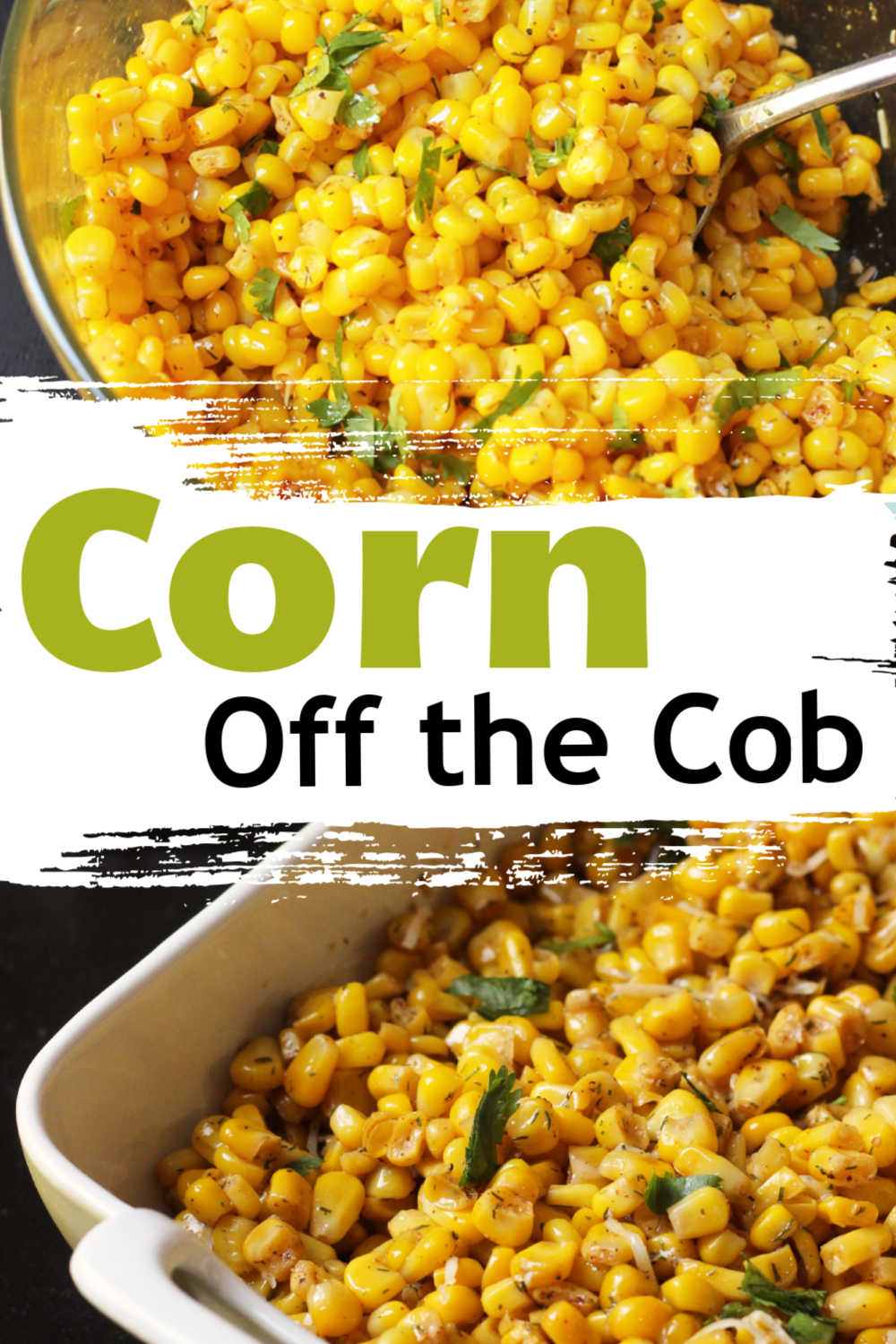 sweet corn kernels in a bowl