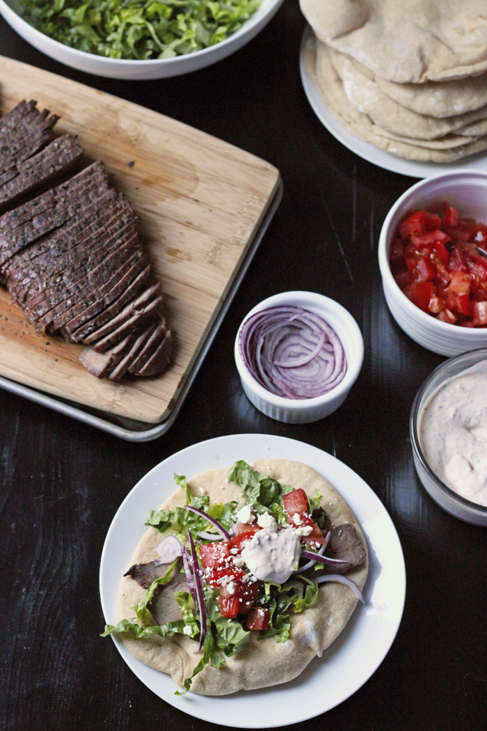Grilled Steak Gyros (Pita Sandwiches) | Good Cheap Eats