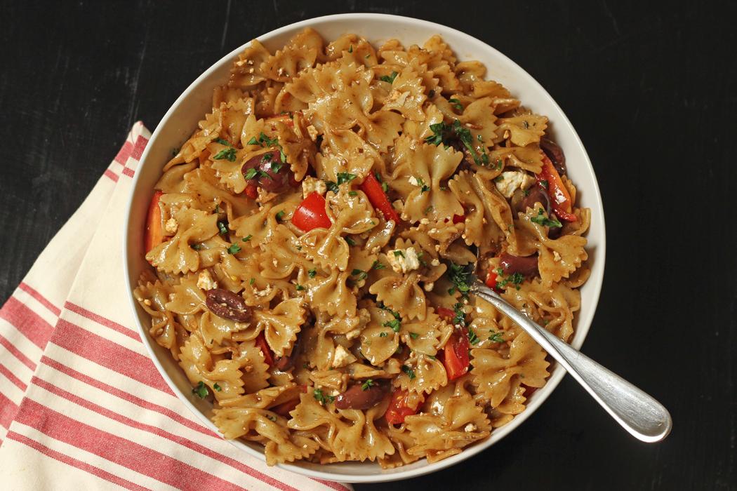 Pasta Salad with Feta, Tomatoes, & Kalamata Olives   Good Cheap Eats