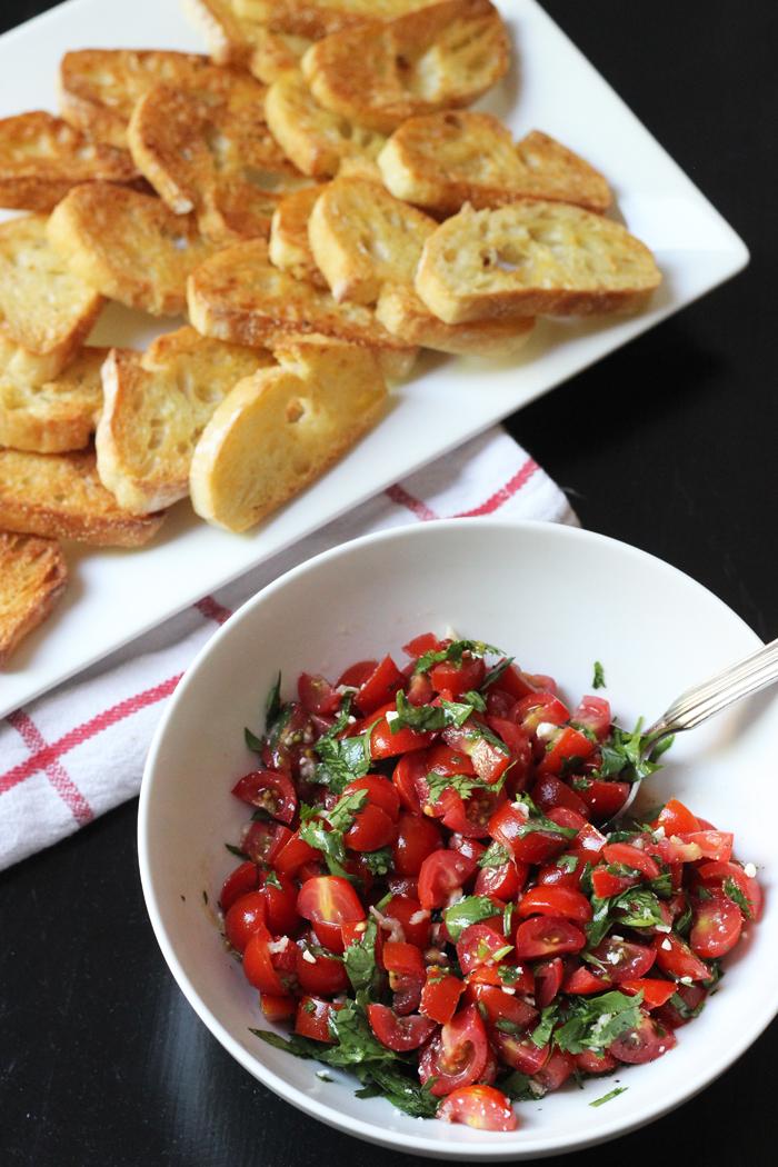 Tomato Salad on Toast | Good Cheap Eats