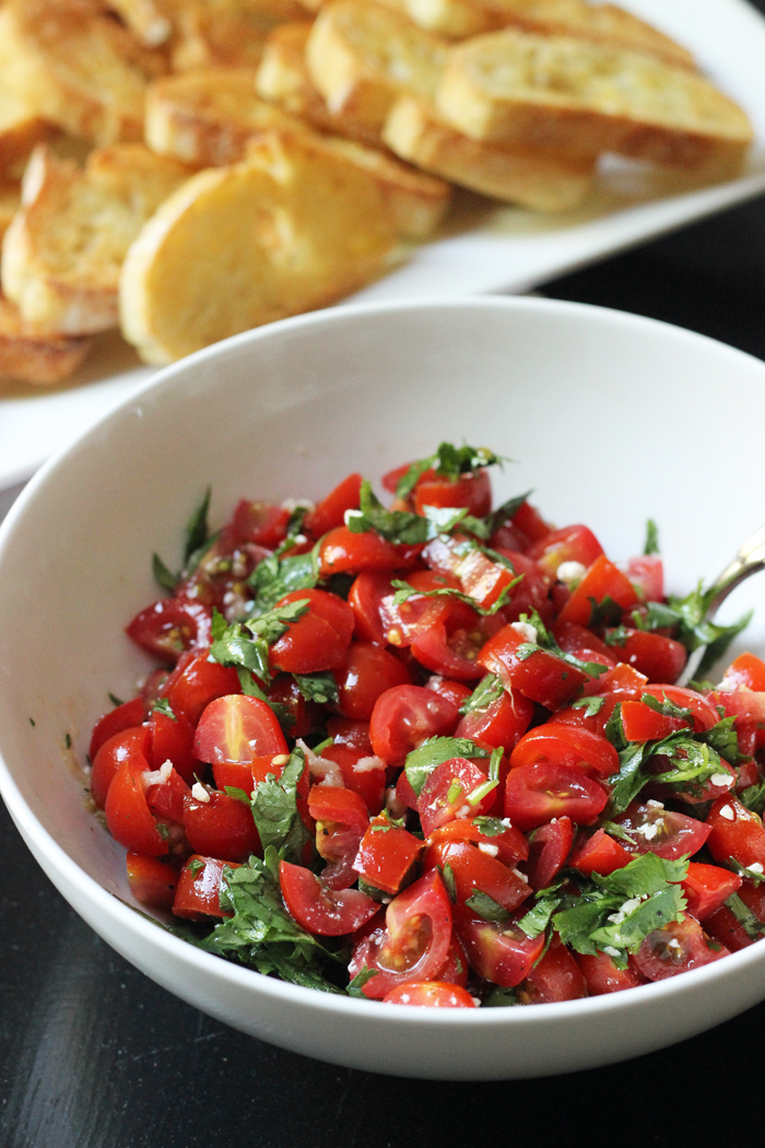 bowl of tomato salad