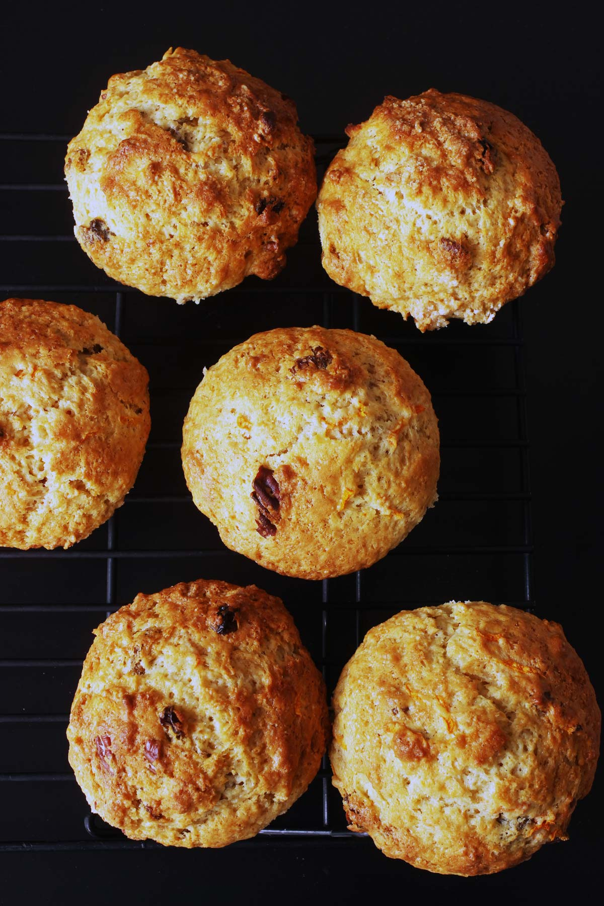baked muffins on rack