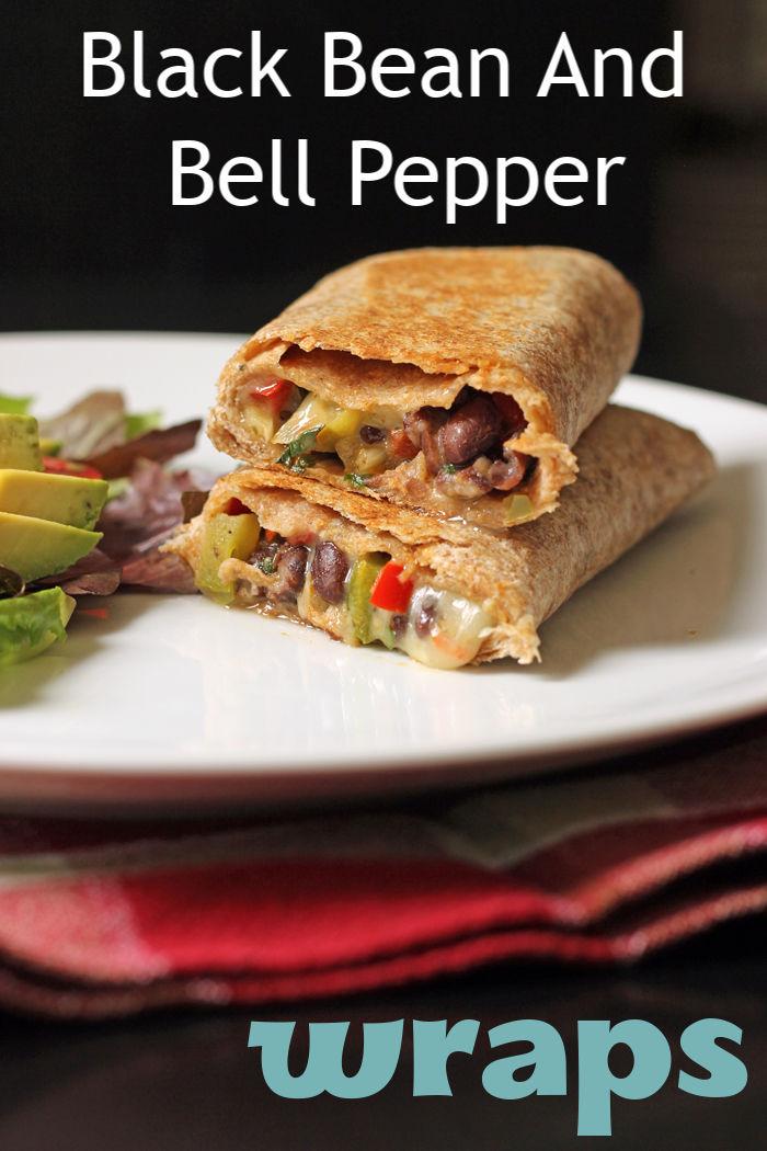 Black bean and bell pepper wraps   Good Cheap Eats