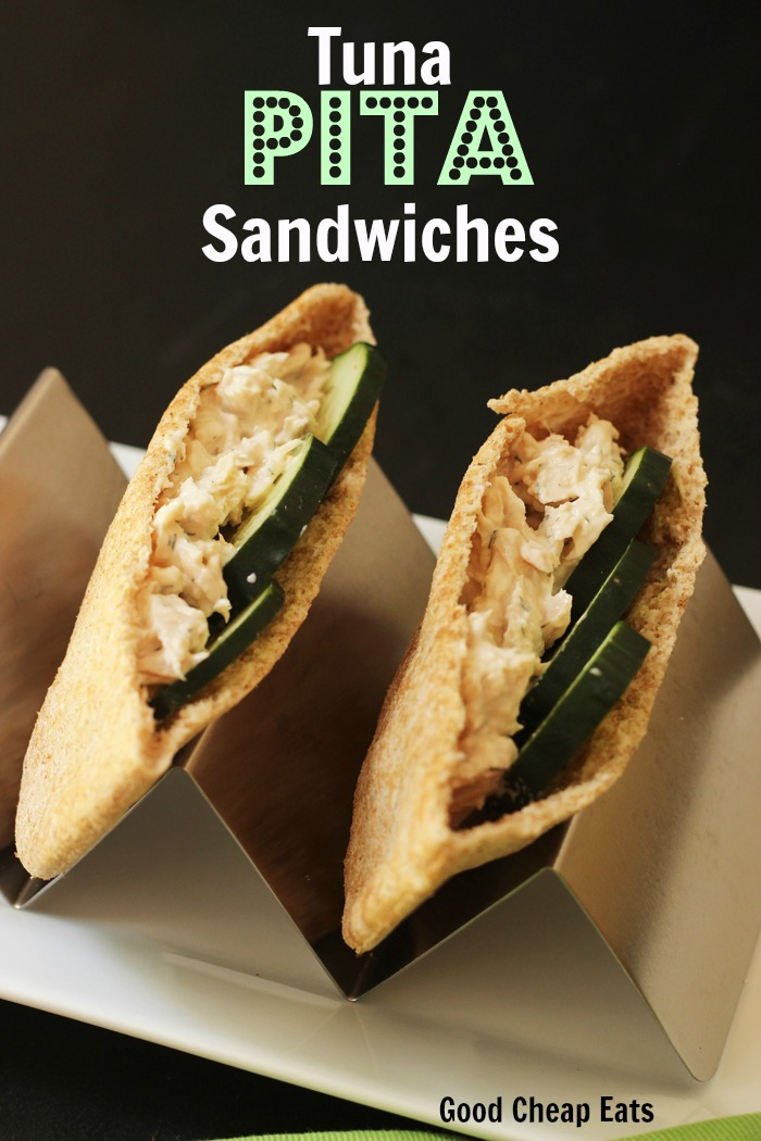 Tuna Pita Sandwiches with Cucumber | Good Cheap Eats